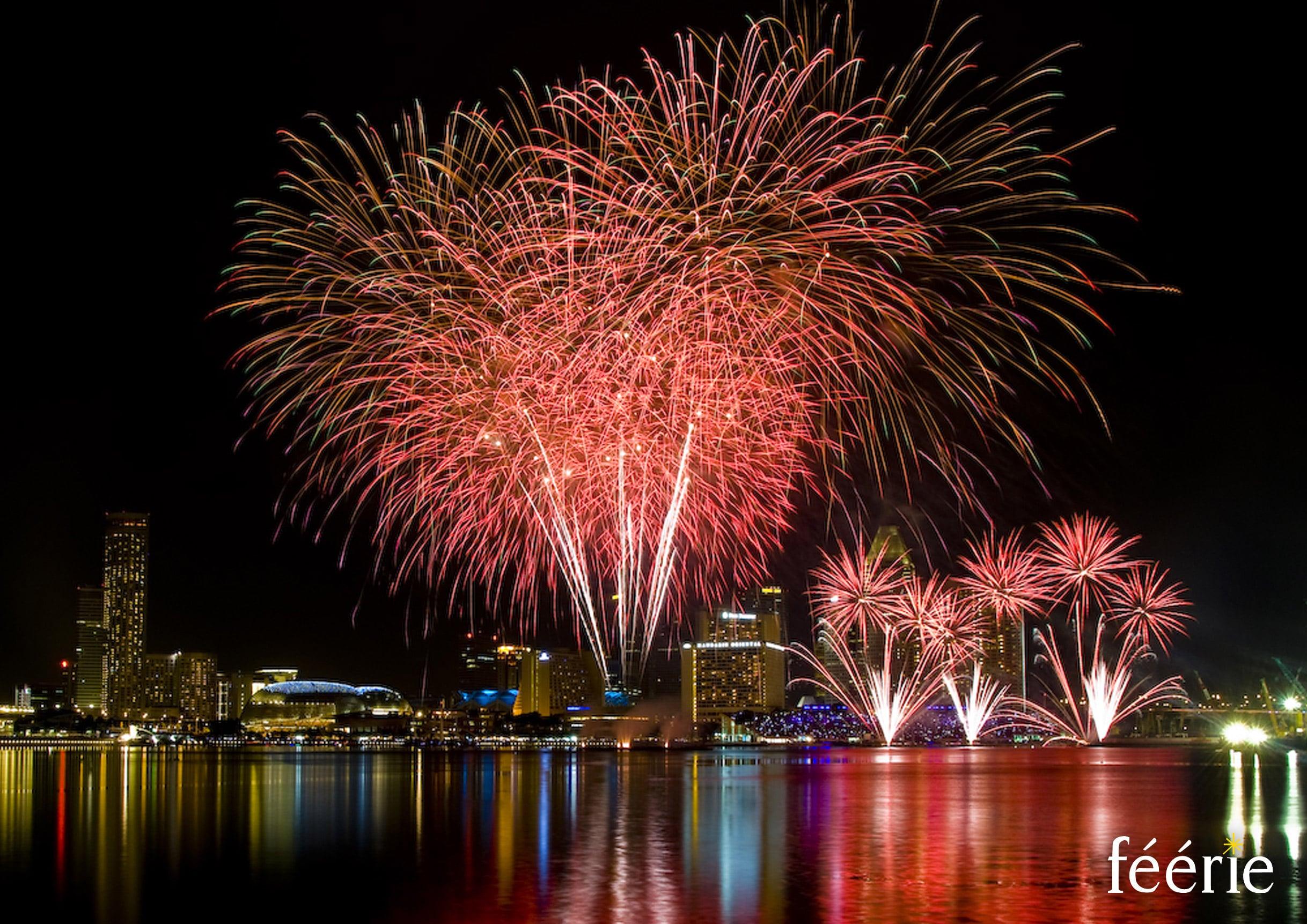 Photo feu d'artifice Singapour