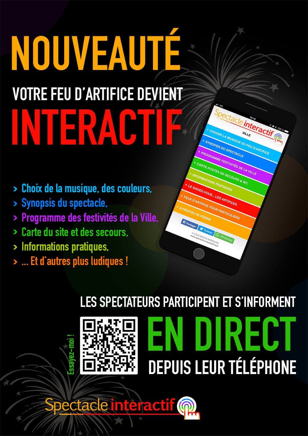 Application spectacle interactif